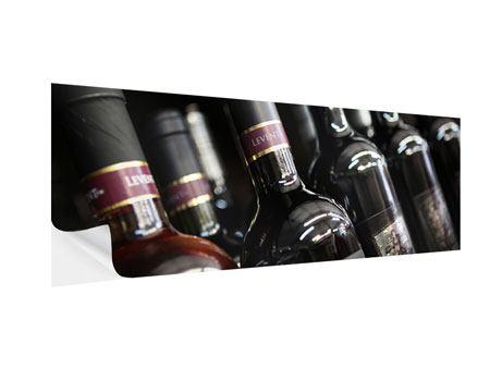 Klebeposter Panorama Flaschenweine