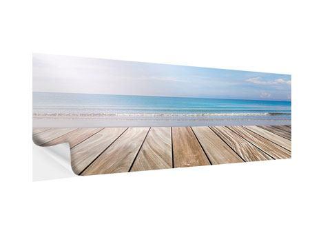 Klebeposter Panorama Das schöne Strandhaus