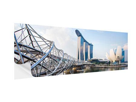 Klebeposter Panorama Singapur