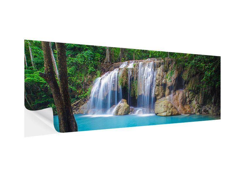 Klebeposter Panorama Naturerlebnis Wasserfall