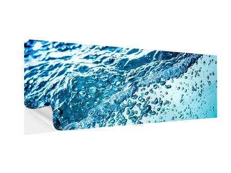 Klebeposter Panorama Wasser in Bewegung
