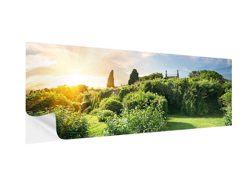 Klebeposter Panorama Sonnenaufgang im Park