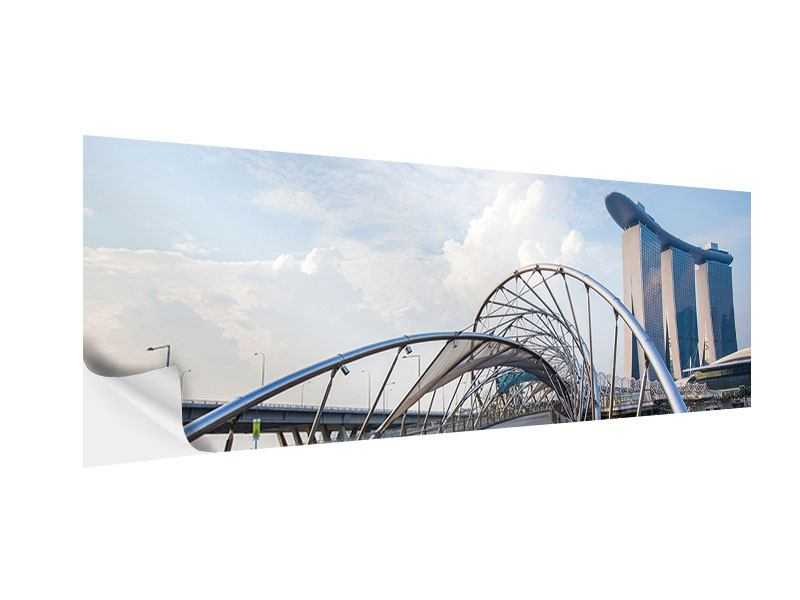 Klebeposter Panorama Helix-Brücke