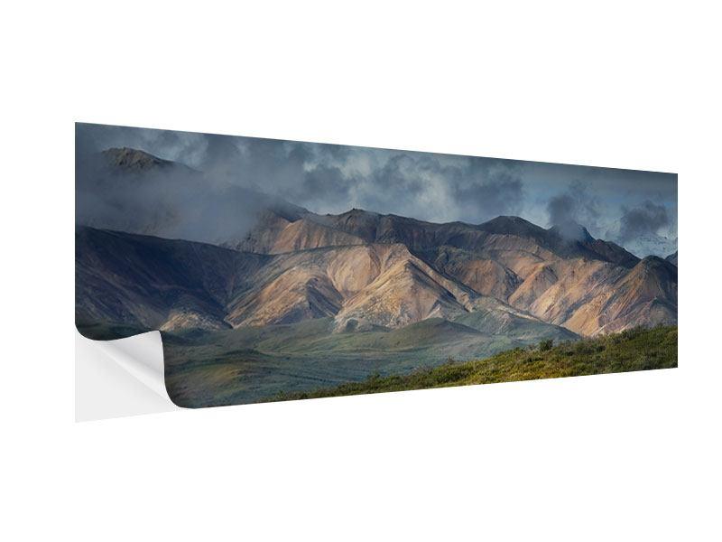 Klebeposter Panorama Silberstreifen