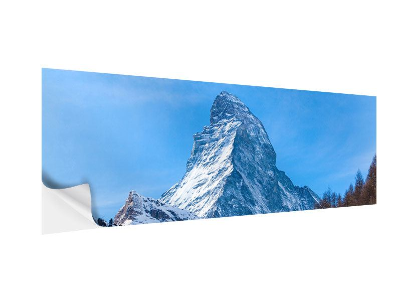 Klebeposter Panorama Das majestätische Matterhorn