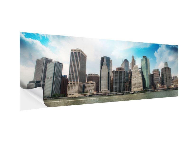 Klebeposter Panorama Skyline Lower Manhattan