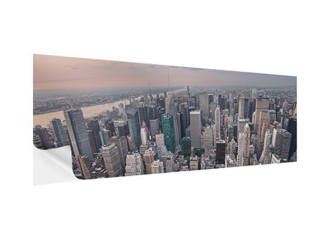 Klebeposter Panorama Skyline Blick über Manhattan