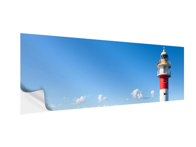 Klebeposter Panorama Leuchtturm in Punta Teno