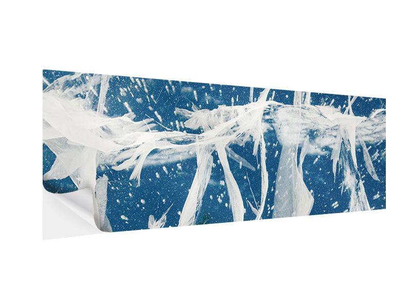 Klebeposter Panorama Eiskristalle