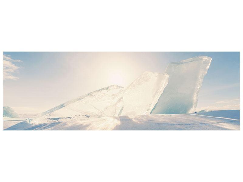 Klebeposter Panorama Eislandschaft