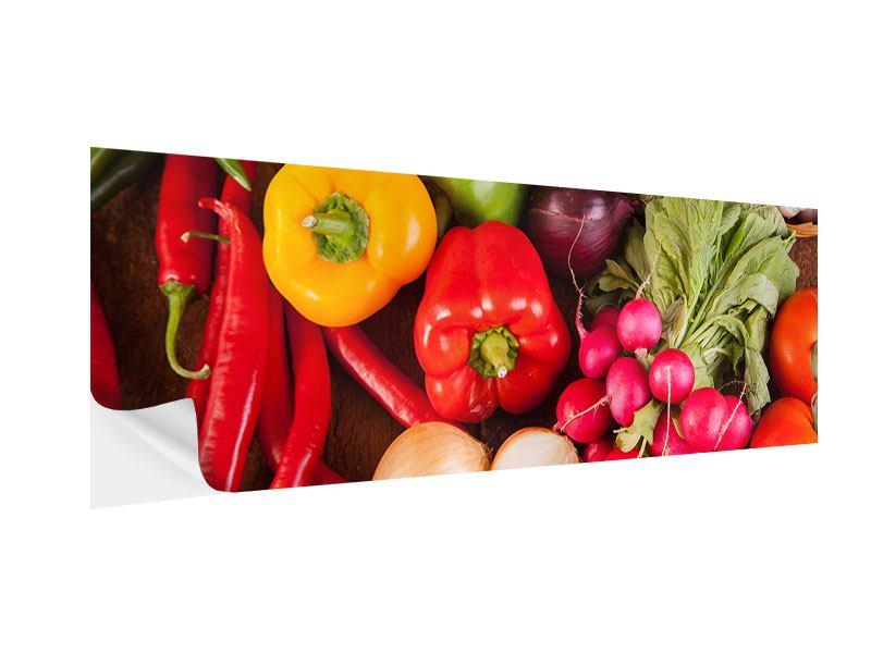 Klebeposter Panorama Gemüsefrische