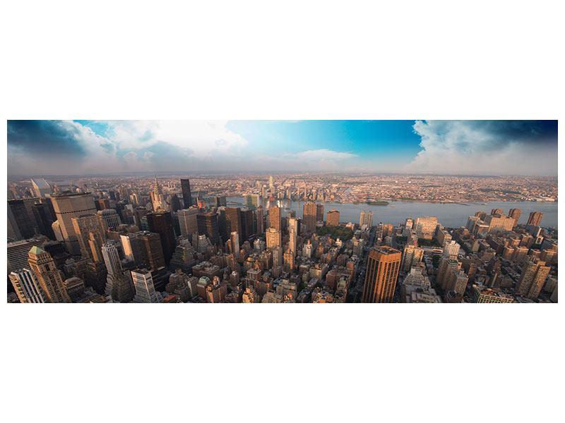 Klebeposter Panorama Skyline Über den Dächern von Manhattan