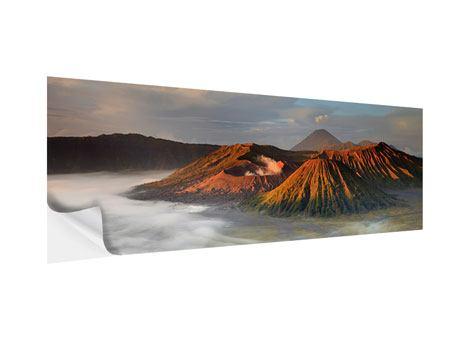Klebeposter Panorama Der Bromo Vulkan