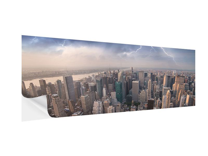 Klebeposter Panorama Manhattan