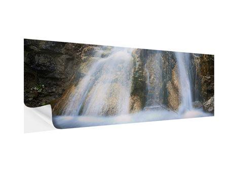 Klebeposter Panorama Imposanter Wasserfall