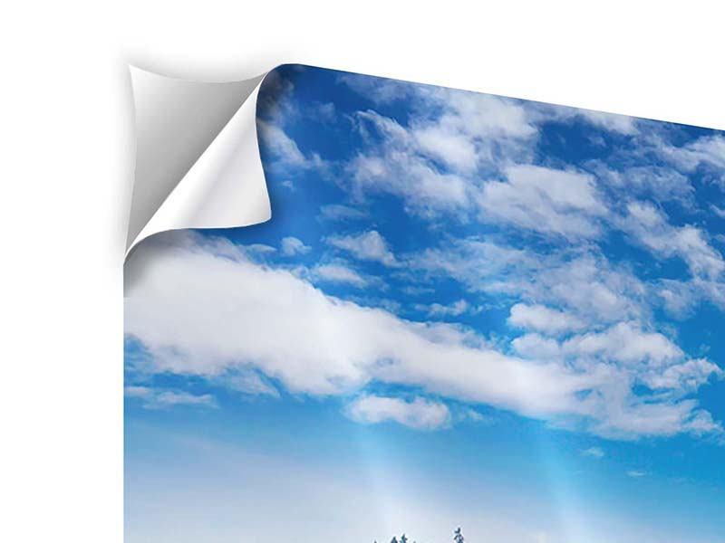 Klebeposter Panorama Wolken ziehen auf