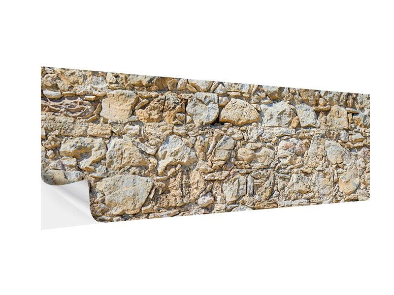 Klebeposter Panorama Sandsteinmauer