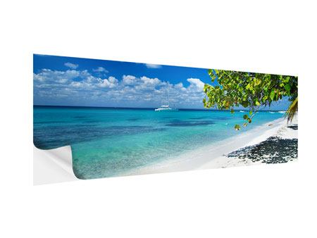 Klebeposter Panorama Happy Beach