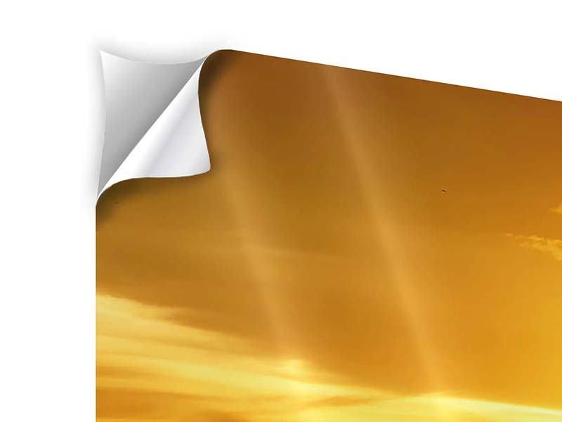 Klebeposter Panorama Traumhafter Sonnenuntergang