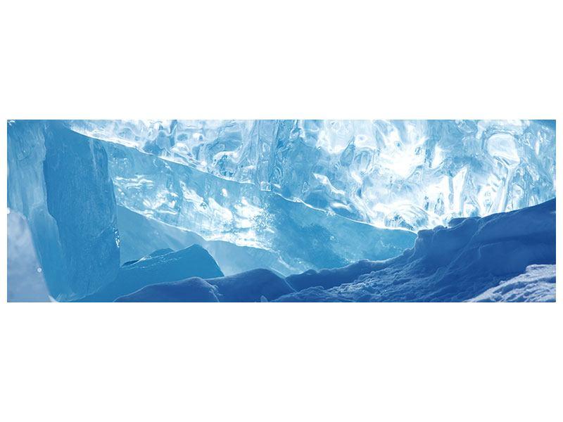 Klebeposter Panorama Baikalsee-Eis