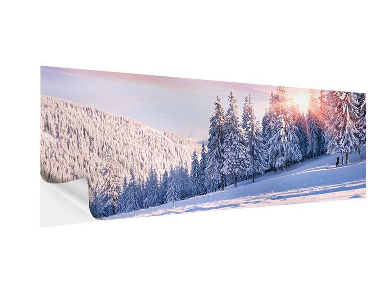 Klebeposter Panorama Winterlandschaft