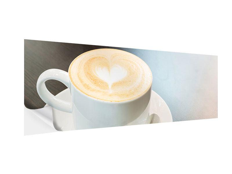 Klebeposter Panorama Lieblingskaffee
