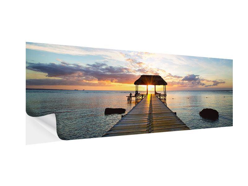 Klebeposter Panorama Romantik auf Mauritius