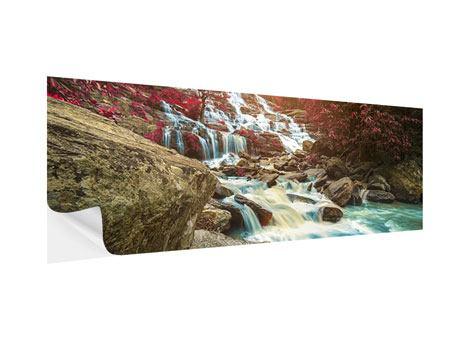 Klebeposter Panorama Exotischer Wasserfall
