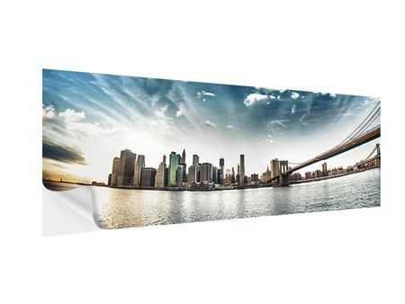 Klebeposter Panorama Brooklyn Bridge From The Other Side