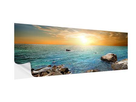 Klebeposter Panorama Meerwasser