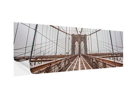 Klebeposter Panorama Auf der Brooklyn Bridge