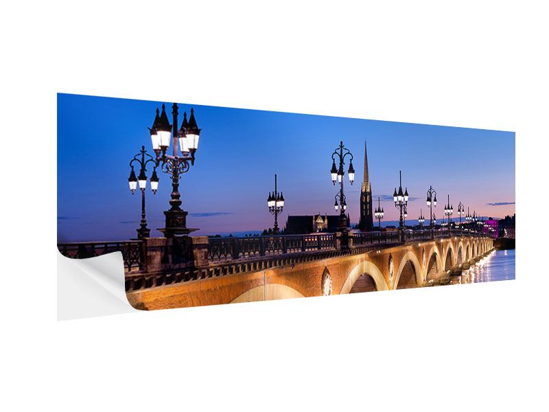 Klebeposter Panorama Pont De Pierre bei Sonnenuntergang
