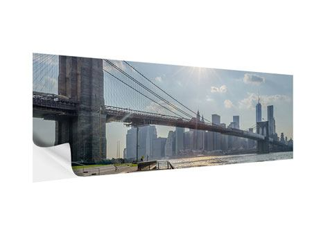 Klebeposter Panorama Brooklyn Bridge