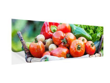 Klebeposter Panorama Gemüsekorb