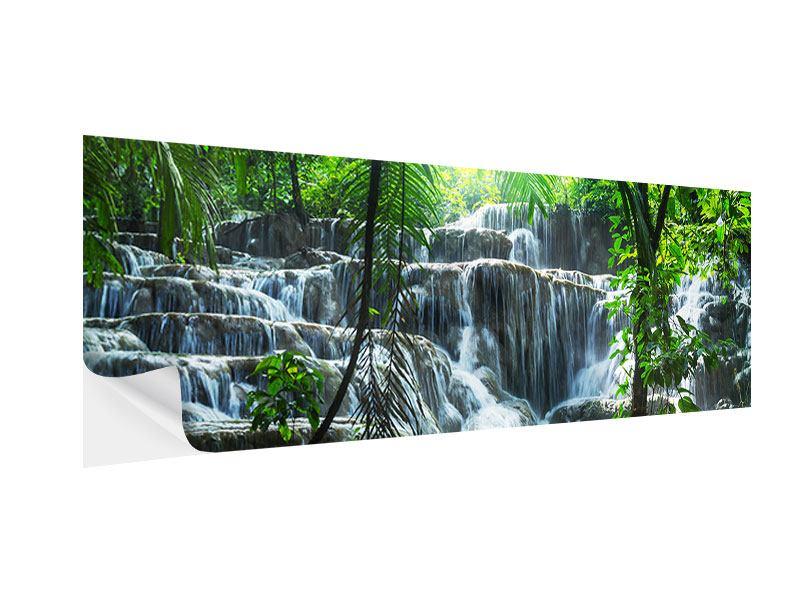 Klebeposter Panorama Wasserfall Agua Azul