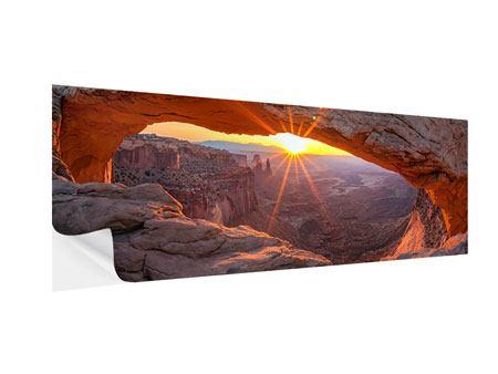 Klebeposter Panorama Sonnenuntergang am Mesa Arch
