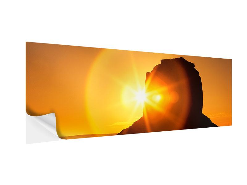 Klebeposter Panorama Sonnenuntergang Monument Valley