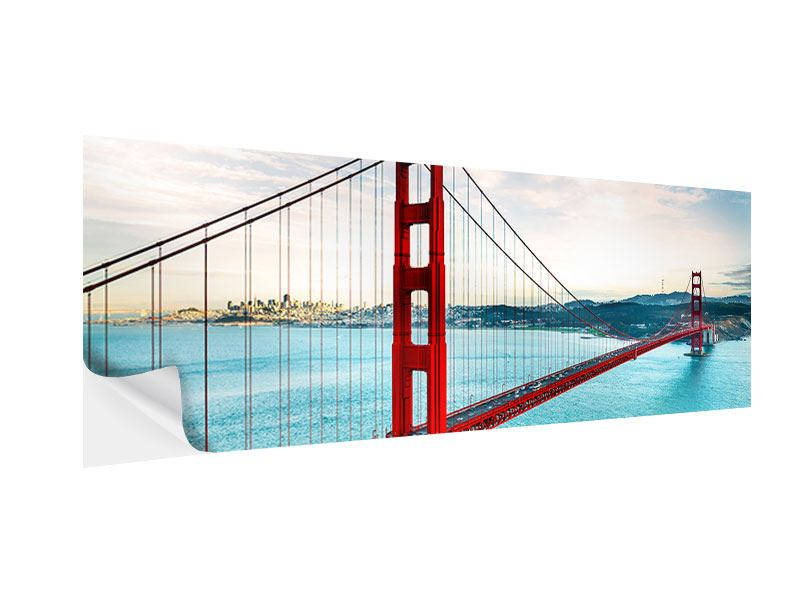 Klebeposter Panorama Golden Gate Bridge