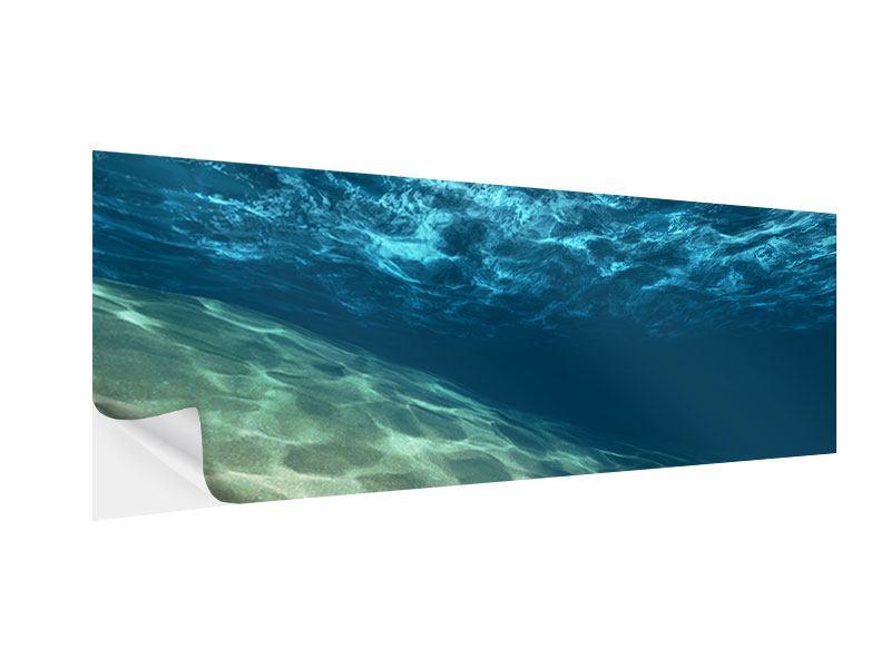 Klebeposter Panorama Unter dem Wasser