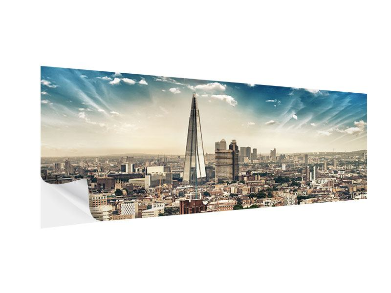 Klebeposter Panorama Skyline Über den Dächern von London