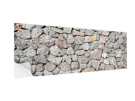 Klebeposter Panorama Grunge-Stil Mauer