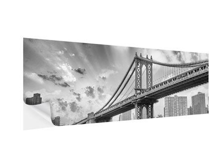 Klebeposter Panorama Manhattan Bridge