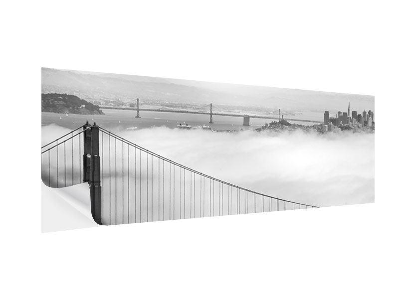 Klebeposter Panorama Golden Gate Brücke