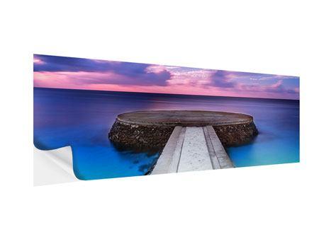 Klebeposter Panorama Meditation am Meer