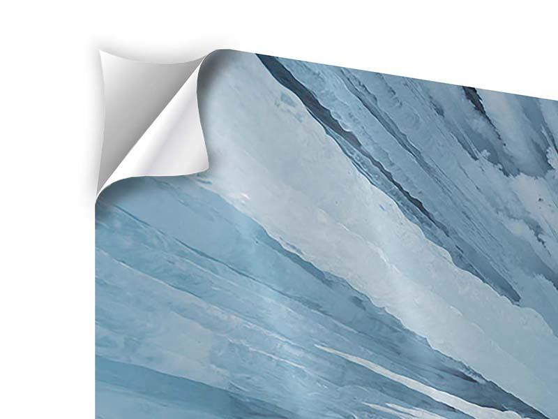 Klebeposter Panorama Eiskunst