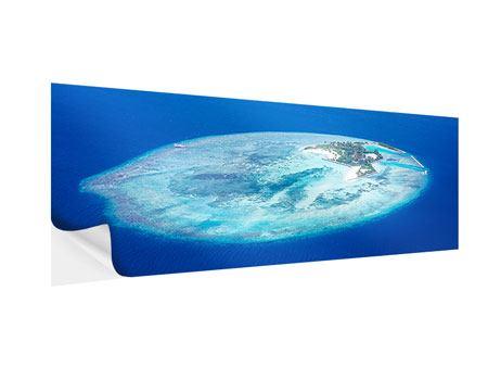 Klebeposter Panorama Reif für die Trauminsel