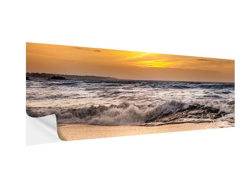 Klebeposter Panorama See mit Sonnenuntergang