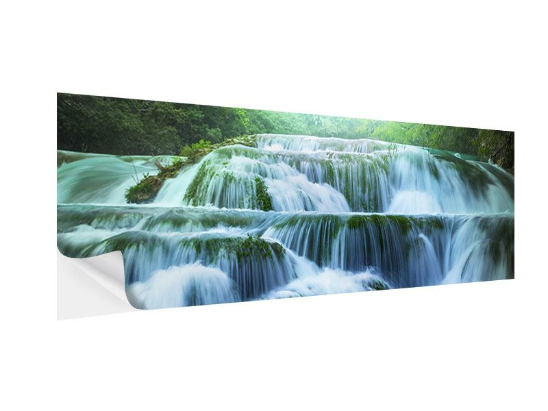 Klebeposter Panorama Gigantischer Wasserfall