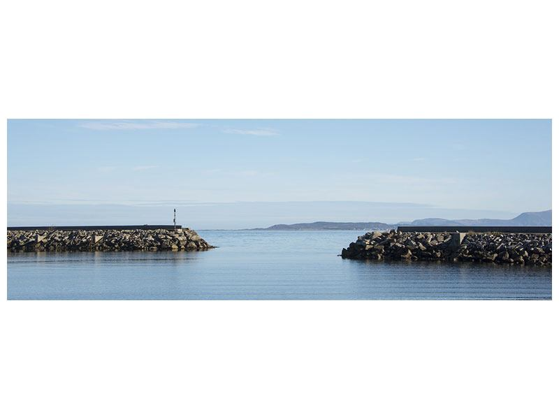 Klebeposter Panorama Hafenmauern