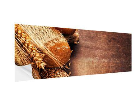 Klebeposter Panorama Frische Brote